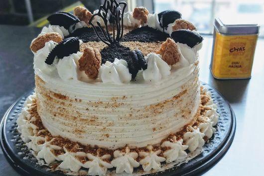 Chai Ice Cream Cake