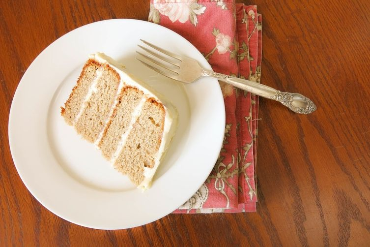 Banana Spice Cake with Lemon Cream Cheese Frosting