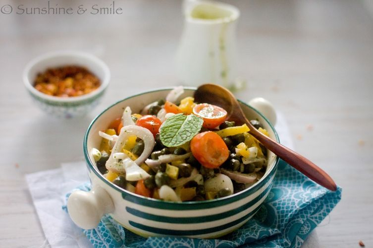 Green Chickpea Salad