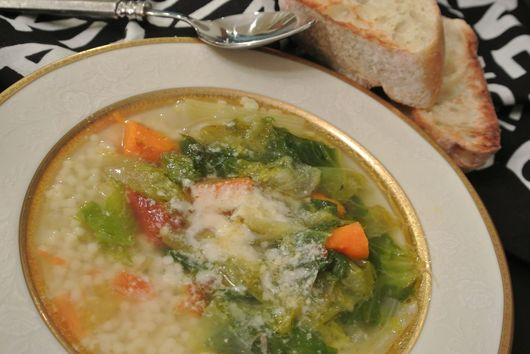 mammina loreta's chicken & escarole soup
