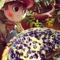 Blueberry Upside Down Yougurt Cake