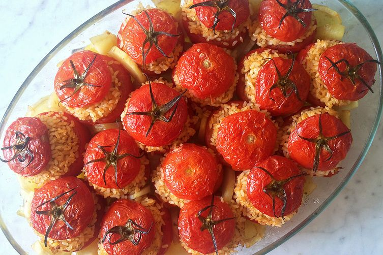 Baked Rice Stuffed Tomatoes - Pomodori al Riso