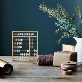 Porcelain & Brass Perpetual Calendar