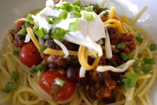 Summertime Chili Spaghetti