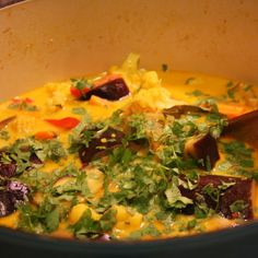 Eggplant yellow curry
