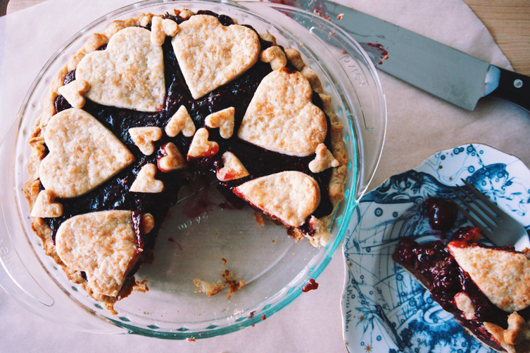 Heartbreak Pie (aka Black-Bottom Cherry Pie)