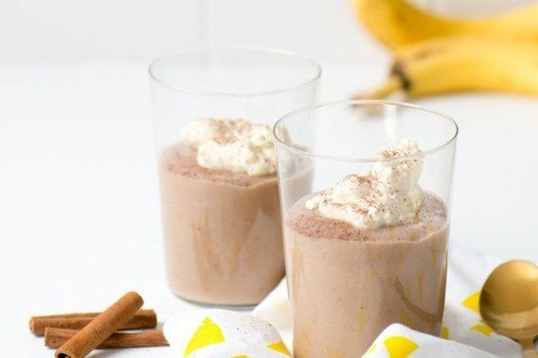 CARAMELISED BANANA AND COCONUT THICK SHAKE