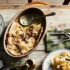Lavash, Chicken & Herb Pie with Barberries