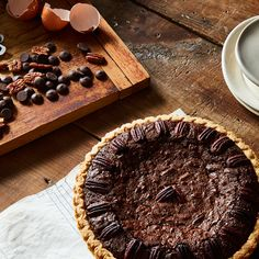 A One-Bowl, 4-Step Holiday Pie That's Full of Dark Chocolate and Sweet Pecans