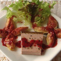 Foie Gras, Roasted Figs with Raspberry Vinaigrette
