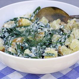 Potato Green Bean Salad with Lemon Dill Aioli