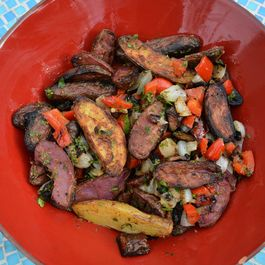 Grilled Fingerling Potato Salad with Mustard Vinaigrette