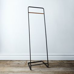 Steel & Wood Clothing Rack
