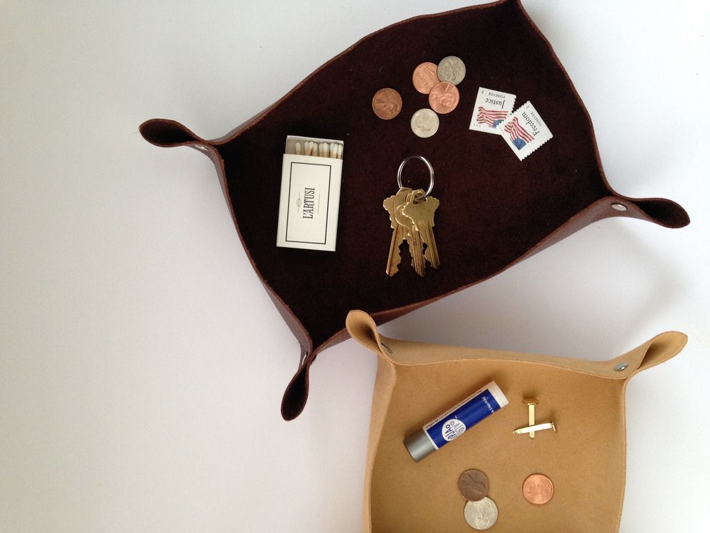 DIY Leather Catchall