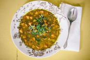 Sweet Potato Lentil Curry Soup