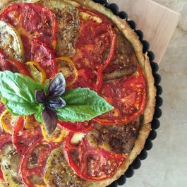 Tomato and Eggplant Tart with Bacon