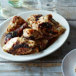 Buttermilk-Marinated Roast Chicken with Tarragon and Dijon Mustard