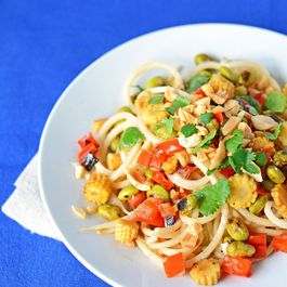 Peanut and Daikon Radish Noodle Salad