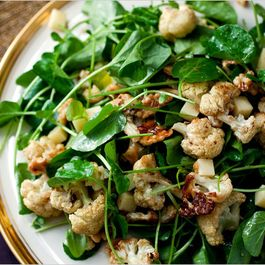 Roasted Cauliflower Salad with Walnuts and Gruyere