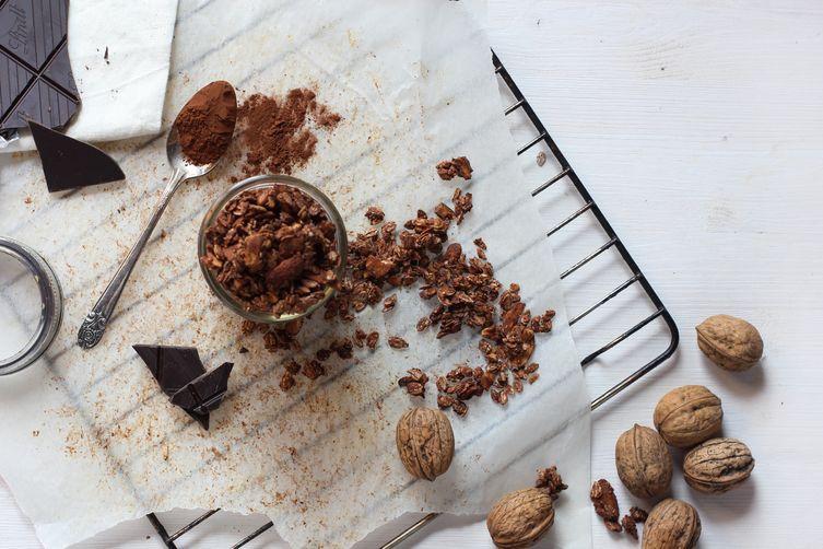 Chocolate Amaretto Spiced Granola