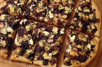 Balsamic Caramelized Onion and Blue Cheese Pizza Recipe on ...