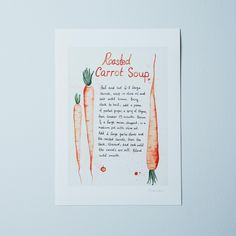 Food52's Roasted Carrot Soup Recipe Print