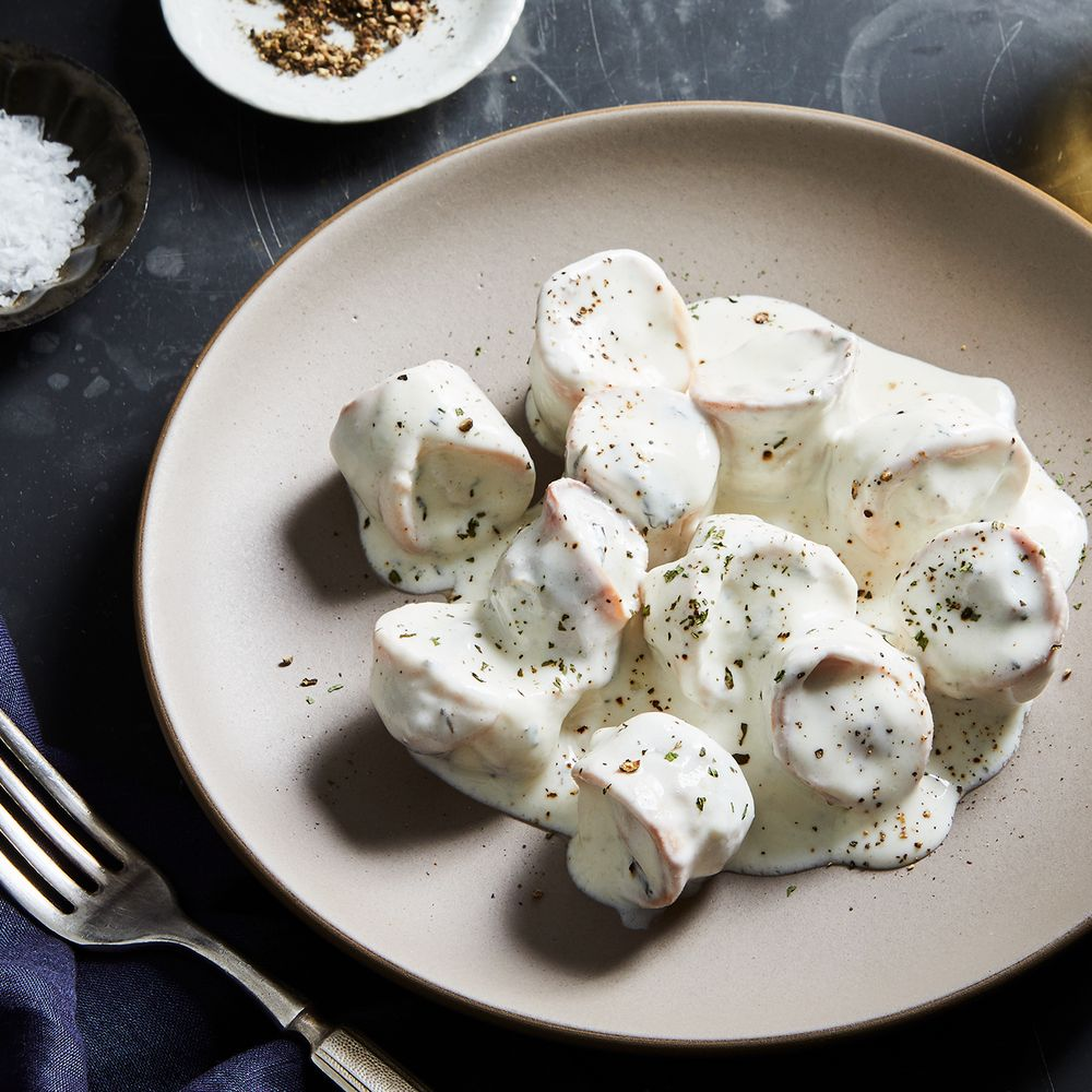 Mediterranean Dumplings With Yogurt-Mint Sauce Recipe On
