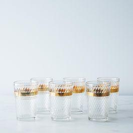 Vintage Gold Trim Juice Glass (Set of 6)