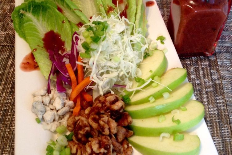 Holiday Salad with Cranberry-Cherry Maple Vinaigrette and Candied Walnuts