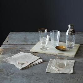 Heirloomed Linen Cocktail Napkins (Set of 6)