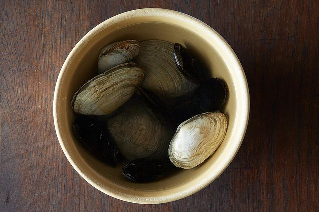 Soaking shellfish