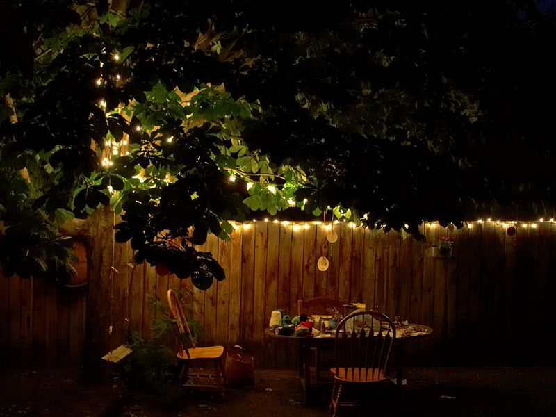 The added charm of twinkle lights at a party cannot be overstated.