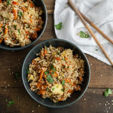 Vegetarian Carrot Fried Brown Rice