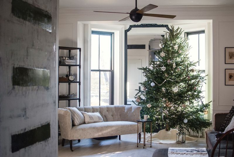 I like to decorate my tree with a color story in mind—not only does it keep the decor fresh, it gives me a good reason to shop for a few new fun ornaments every year.