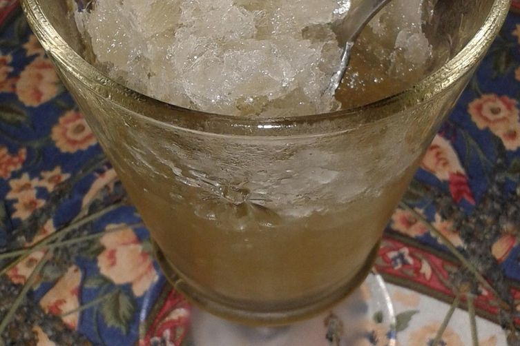 Honey Lemon Sage Granita