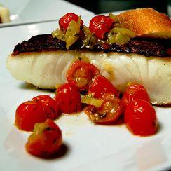 Chilean Sea Bass w/ Grape Tomato Salsa