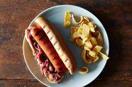 Hot Dogs with Fake Sauerkraut Relish