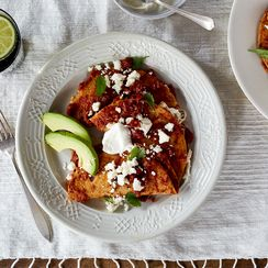 This Saucy Dinner (or Breakfast) Brought to You By Tortillas, Tomatoes & Cheese