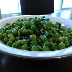 Peas, Spinach and Shallots
