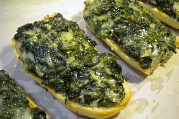 Quick Spinach Bread
