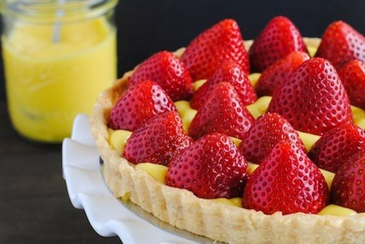 Strawberry Tart with Moscato Lemon Curd