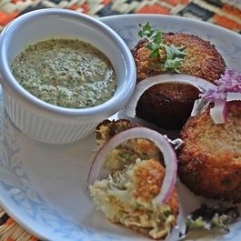 Spicy Indian Fishcakes with a Crisp Coating (Macher Chop)