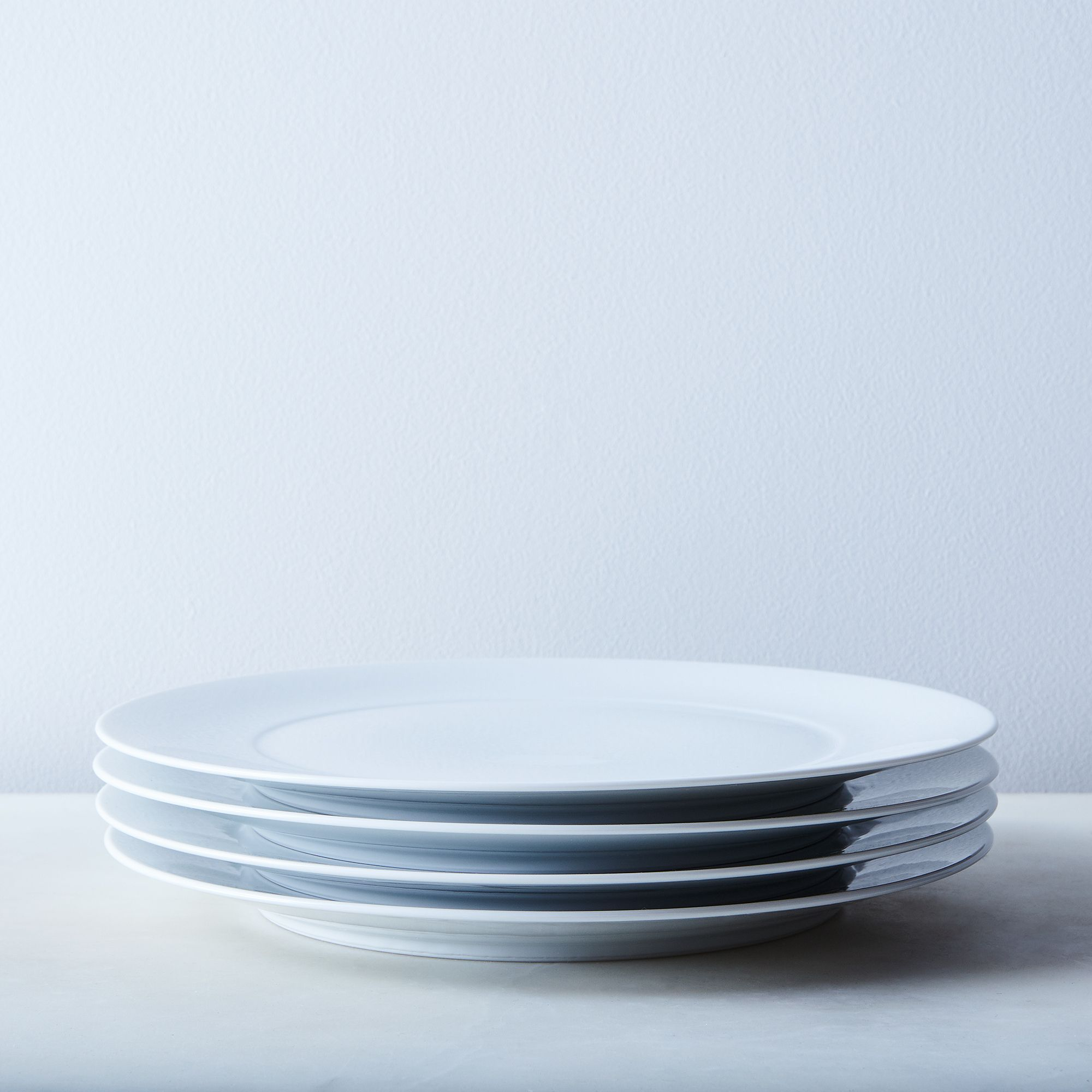 White Porcelain Dinnerware Dinner Plates (set Of 4)