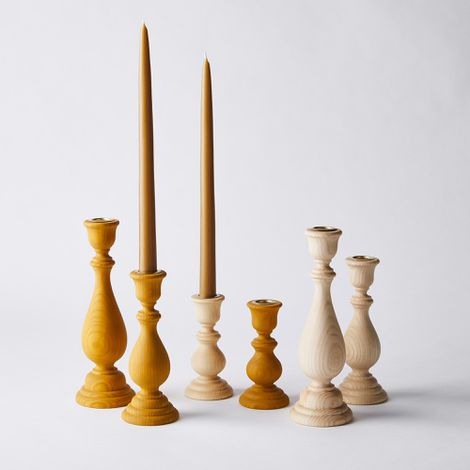 Essex Traditional Wooden Candlesticks