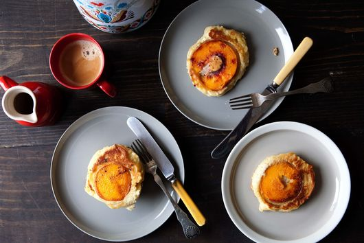 Caramelized Peach Pancakes