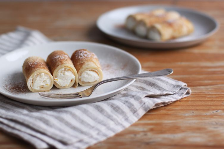 Apostle's Fingers (lemon and ricotta filled crepes)