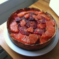 Buttermilk Tart with Star Anise Citrus Brulee