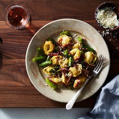Creamy Lemon Tortellini with Sugar Snap Peas and Soppressata