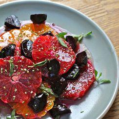 Blood Orange, Tangerine and Beet Salad with Maple-Orange Vinaigrette