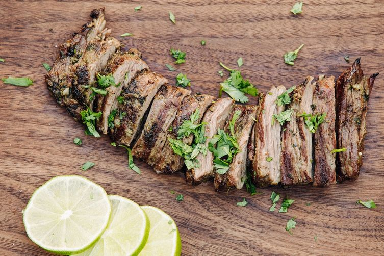 Roofeeo's Simple Grilled Chimichurri Marinated Skirt Steak